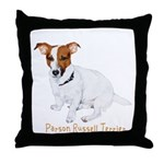 Parson Russell Painting Throw Pillow