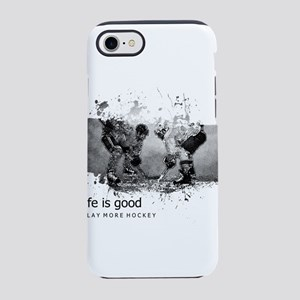 Life Is Good Play More Hockey iPhone 7 Tough Case
