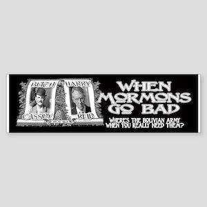 When Mormons Go Bad - Harry R Sticker (Bumper)