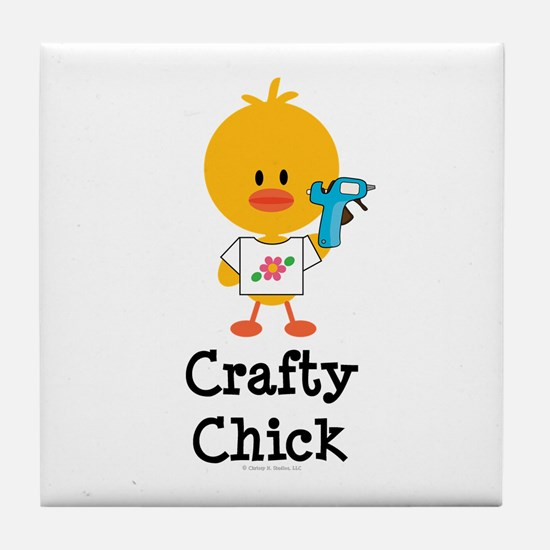 Crafty Chick Tile Coaster