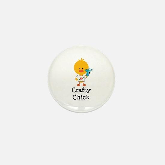 Crafty Chick Mini Button