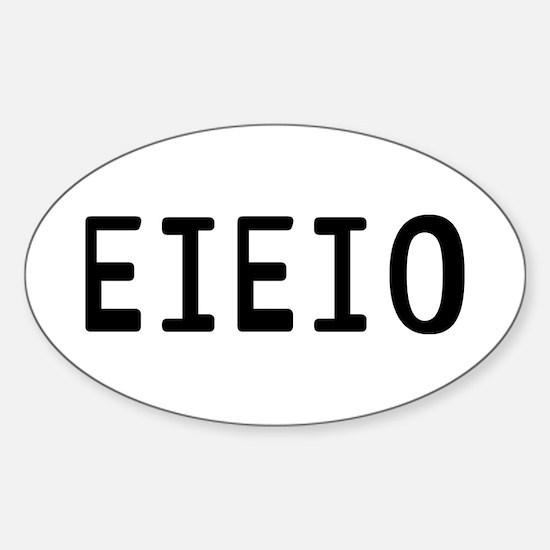 EIEIO Sticker (Oval)
