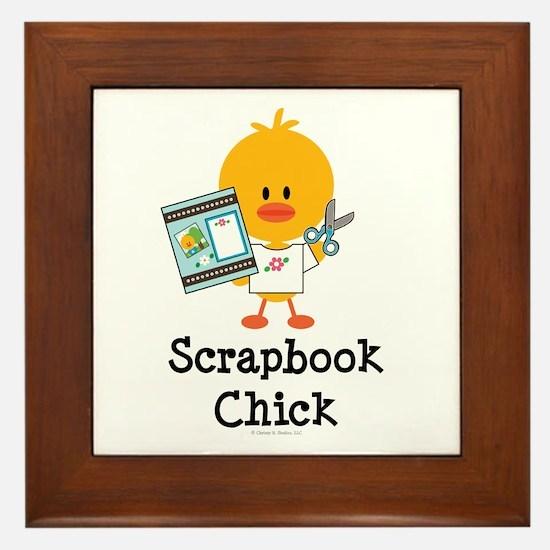 Scrapbook Chick Framed Tile