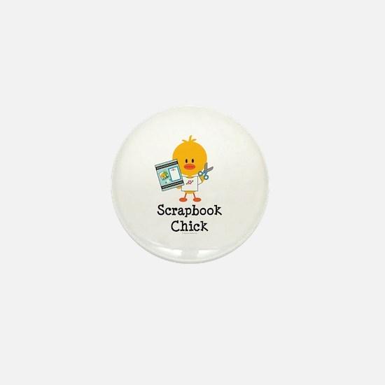 Scrapbook Chick Mini Button