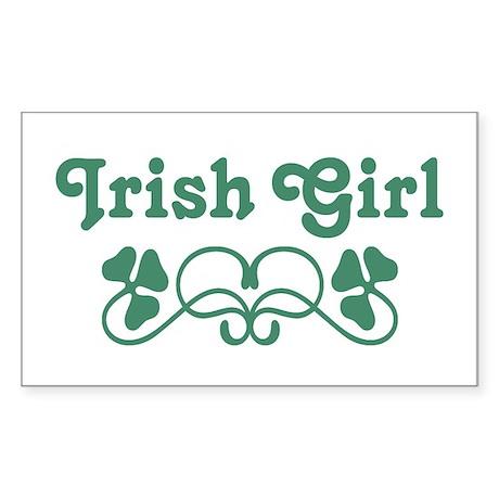 Irish Girl Sticker (Rectangle)