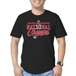 2010 National Champs Men's Fitted T-Shirt (dark)