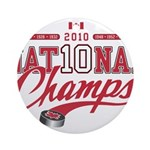 2010 National Champs Ornament (Round)