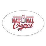 2010 National Champs Sticker (Oval 50 pk)