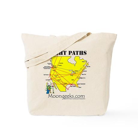 Flight Paths Tote Bag