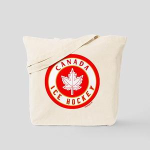 CA Canada Ice Hockey 87 Black Tote Bag