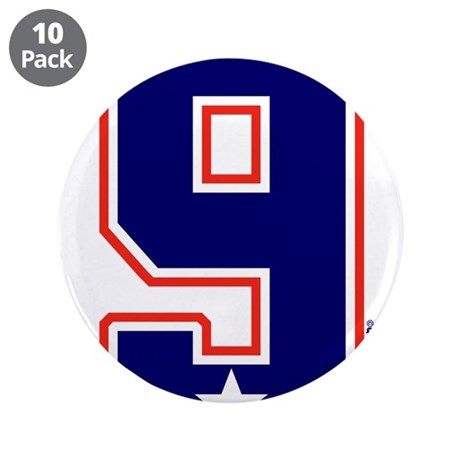 """United States Ice Hockey 9 3.5"""" Button (10 pack)"""