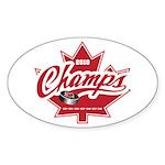 Canada 2010 Sticker (Oval 10 pk)