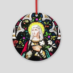 St Theresa Ornament (Round)