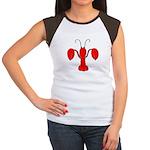 Lobster Fleur De Lis Women's Cap Sleeve T-Shirt