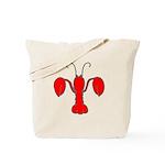 Lobster Fleur De Lis Tote Bag