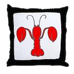 Lobster Fleur De Lis Throw Pillow