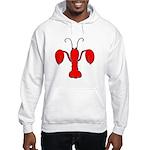 Lobster Fleur De Lis Hooded Sweatshirt