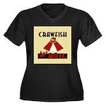 Crawfish Women's Plus Size V-Neck Dark T-Shirt