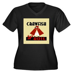 Crawfish Women's Plus Size V-Neck Dark T-Shirt