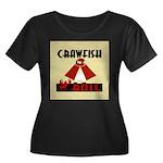 Crawfish Women's Plus Size Scoop Neck Dark T-Shirt