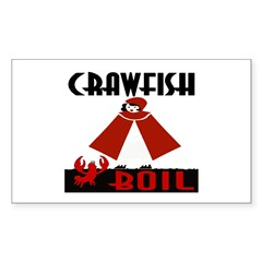 Crawfish Sticker (Rectangle)