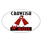 Crawfish Sticker (Oval)