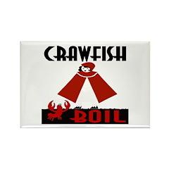 Crawfish Rectangle Magnet