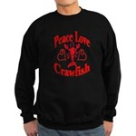 Peace Love Crawfish Sweatshirt (dark)
