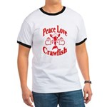 Peace Love Crawfish Ringer T