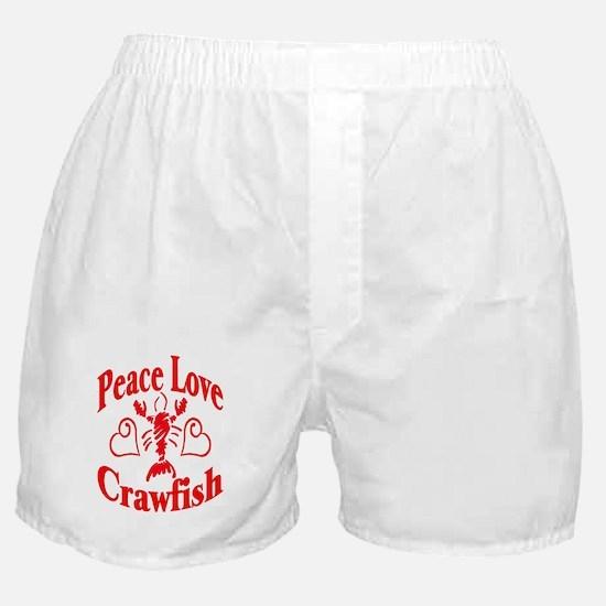 Peace Love Crawfish Boxer Shorts