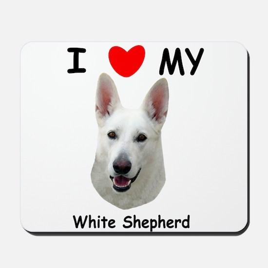 Love My White Shepherd Mousepad