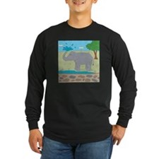 Elephant Long Sleeve Dark T-Shirt