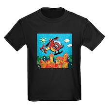 Helicopter Kids Dark T-Shirt