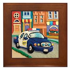Police Car Framed Tile