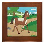 Farm Horse Framed Tile