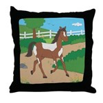 Farm Horse Throw Pillow
