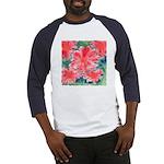 Watercolor Flowers Baseball Jersey