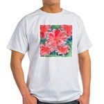 Watercolor Flowers Ash Grey T-Shirt