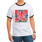 Watercolor Flowers Ringer T