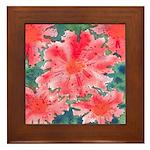 Watercolor Flowers Framed Tile