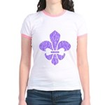 Fleur De Lis Jr. Ringer T-Shirt