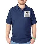 Aniridia Network logo & URL Dark Polo Shirt