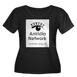 Aniridia Network logo & URL Plus Size T-Shirt