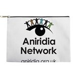 Aniridia Network logo & URL Makeup Bag