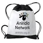 Aniridia Network logo & URL Drawstring Bag