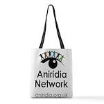 Aniridia Network logo & URL Polyester Tote Bag
