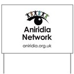 Aniridia Network logo & URL Yard Sign
