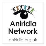 "Aniridia Network logo & URL Square Car Magnet 3"" x"