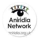 Aniridia Network logo & URL Round Car Magnet
