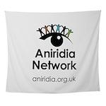 Aniridia Network logo & URL Wall Tapestry